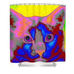 Crayola Cat Shower Curtain