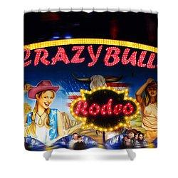 Crazy Bulls Shower Curtain by Charles Stuart