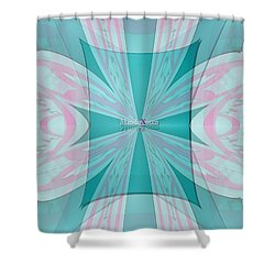Cream Mint Flow Shower Curtain