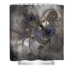 Shower Curtain featuring the digital art Creatively Calcified by Casey Kotas