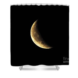 Crescent Close Up Shower Curtain