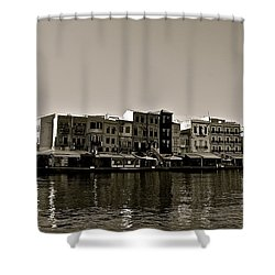 Shower Curtain featuring the photograph Crete Reflected by Eric Tressler