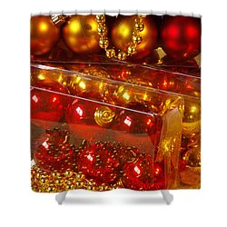 Crhistmas Decorations Shower Curtain by Carlos Caetano
