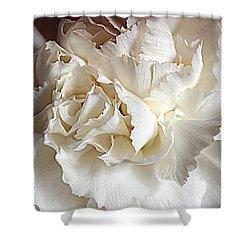 Shower Curtain featuring the photograph Crisp Carnation Photo by Deniece Platt