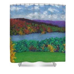 Crisp Kripalu Morning Shower Curtain