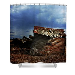 Crooked Breeze One Shower Curtain by Empty Wall