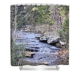 Shower Curtain featuring the photograph Crooked Creek by Donna G Smith