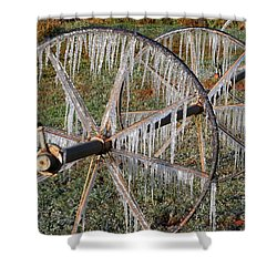 Crops Of Ice #2 Shower Curtain by Nola Lee Kelsey