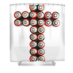 Cross Batteries 2 Shower Curtain by John Brueske