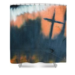 Shower Curtain featuring the painting Cross by Chriss Pagani
