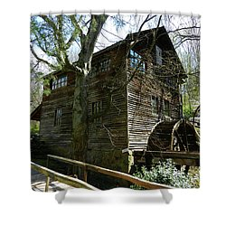 Shower Curtain featuring the photograph Cross Eyed Cricket Grist Mill by Paul Mashburn