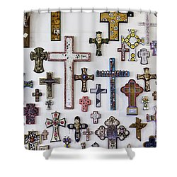 Crosses Shower Curtain