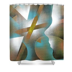 Crossing Of Minds Shower Curtain by Hakon Soreide