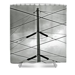 Crossing The Lines Shower Curtain