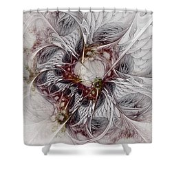 Shower Curtain featuring the digital art Crowd Of Sorrows by NirvanaBlues
