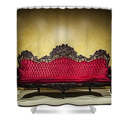 Crushed In Red Shower Curtain by CJ Schmit