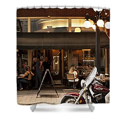 Shower Curtain featuring the photograph Crusin' Ybor by Steven Sparks