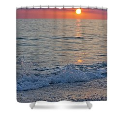 Crystal Blue Waters At Sunset In Treasure Island Florida 2 Shower Curtain