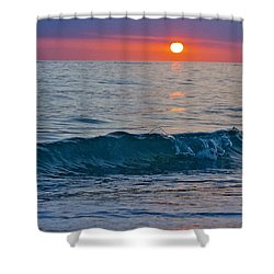 Crystal Blue Waters At Sunset In Treasure Island Florida 3 Shower Curtain