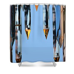 Crystal Cathedral Tower Points Shower Curtain by Mariola Bitner