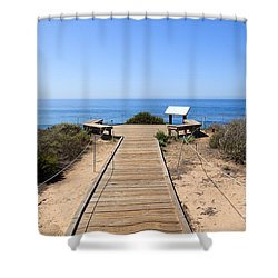 Crystal Cove State Park Ocean Overlook Shower Curtain by Paul Velgos