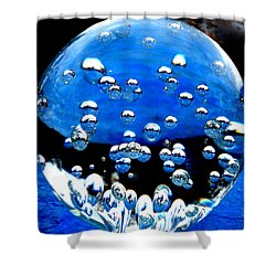 Crystal Drops From A Global View Shower Curtain by Colette V Hera  Guggenheim