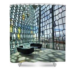 Crystal Fantasy Shower Curtain by Evelina Kremsdorf