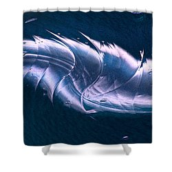 Crystalline Entity Panel 2 Shower Curtain by Peter Piatt