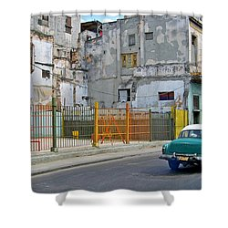 Shower Curtain featuring the photograph Cuba Vintage American Car  by Lynn Bolt