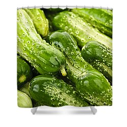 Cucumbers  Shower Curtain by Elena Elisseeva