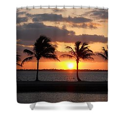 Shower Curtain featuring the photograph Cudjoe Sunrise by Clara Sue Beym