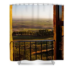 Cultivated Land In Spain Shower Curtain by Spencer Grant and Photo Researchers