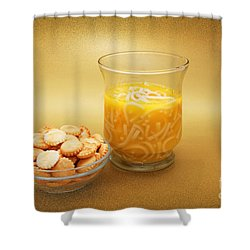 Cup O Soup And Oyster Crackers Shower Curtain by Andee Design