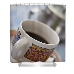 Cup Of Coffee Shower Curtain by David DuChemin