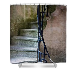 Curly Stairway Shower Curtain by Carlos Caetano