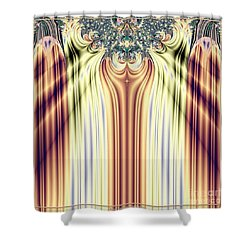 Curtain Call Spotlights Fractal 133 Shower Curtain by Rose Santuci-Sofranko