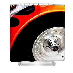 Shower Curtain featuring the digital art Curves Of Flames by Tony Cooper