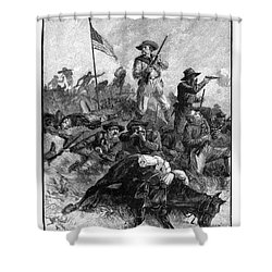 Custers Last Fight Shower Curtain by Granger