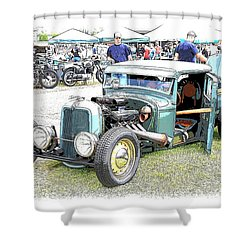 Custom 32 Ford Pickup Shower Curtain by Steve McKinzie