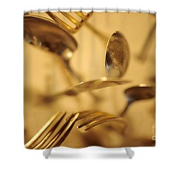 Cutlery Vortex Shower Curtain