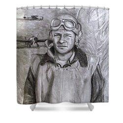 Dad Ww2 Shower Curtain by Jack Skinner