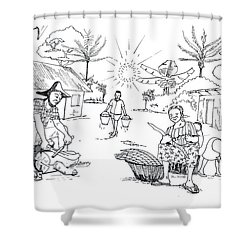 Daily Life In South And Center Cameroon 03 Shower Curtain