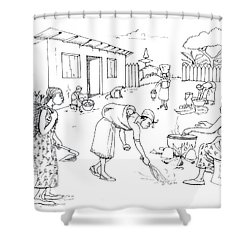 Daily Life In South And Center Cameroon 10 Shower Curtain by Emmanuel Baliyanga