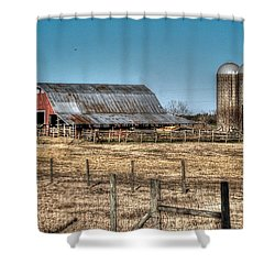 Dairy Barn Shower Curtain by Michael Thomas