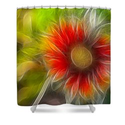 Shower Curtain featuring the photograph Dalia Pseudo Fractal by Lynne Jenkins