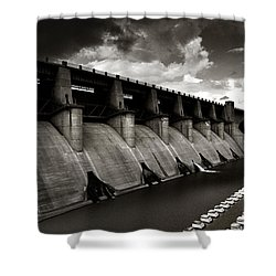 Shower Curtain featuring the photograph Dam-it by Brian Duram