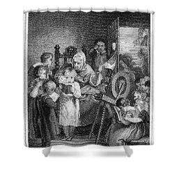 Dames School, 1812 Shower Curtain by Granger