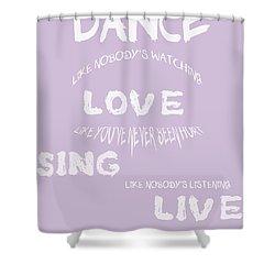 Dance Like Nobody's Watching - Lilac Shower Curtain by Georgia Fowler