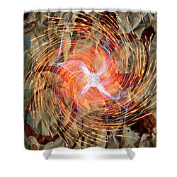 Dance Of Fires  Shower Curtain by Jerry Cordeiro