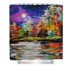 Dance On The Pond Shower Curtain